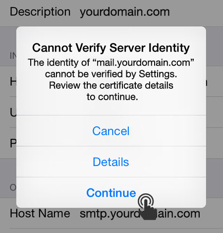 cannot verify