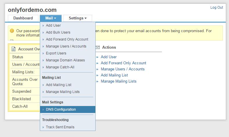 dns settings 1